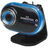 Manhattan Mega Cam 460477 Webcam - 1.3 Megapixel - Black - USB 2.0 460477
