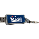 Centon DataStick Keychain V2 New England Patriots Edition 2 GB Flash Drive - Silver