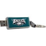 Centon DataStick Keychain V2 Philadelphia Eagles Edition 2 GB Flash Drive - Silver