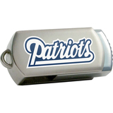 Centon DataStick Twist New England Patriots Edition 16 GB Flash Drive - Silver