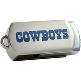 Centon DataStick Twist Collegiate Dallas Cowboys 4 GB Flash Drive - Silver