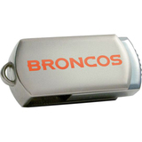 Centon DataStick Twist Denver Broncos Edition 4 GB Flash Drive - Silver
