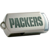 Centon DataStick Twist Green Bay Packers Edition 4 GB Flash Drive - Silver