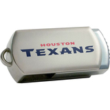 Centon DataStick Twist Houston Texans Edition 4 GB Flash Drive - Silver