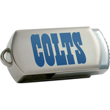 Centon DataStick Twist Indianapolis Colts Edition 4 GB Flash Drive - Silver