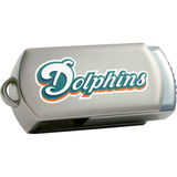 Centon DataStick Twist Miami Dolphins Edition 4 GB Flash Drive - Silver