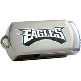 Centon DataStick Twist Philadelphia Eagles Edition 4 GB Flash Drive - Silver
