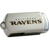 Centon DataStick Twist Baltimore Ravens Edition 8 GB Flash Drive - Silver