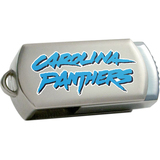 Centon DataStick Twist Carolina Panthers Edition 8 GB Flash Drive - Silver
