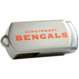Centon DataStick Twist Cincinnati Bengals Edition 8 GB Flash Drive - Silver