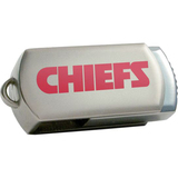 Centon DataStick Twist Kansas City Chiefs Edition 8 GB Flash Drive - Silver