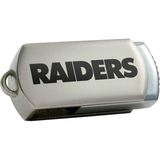 Centon DataStick Twist Oakland Raiders Edition 8 GB Flash Drive - Silver