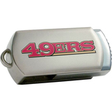 Centon DataStick Twist San Francisco 49ers Edition 8 GB Flash Drive - Silver
