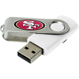 Centon DataStick Swivel San Francisco 49ers Edition 2 GB Flash Drive - White