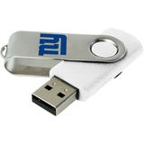 Centon DataStick Swivel New York Giants 8 GB Flash Drive - White