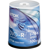 48520-KIT - TDK Life on Record 48520-KIT DVD Recordable Media - DVD-R - 16x - 4.70 GB - 200 Pack Spindle