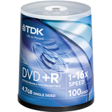 TDK 48521-KIT DVD Recordable Media - DVD+R - 16x - 4.70 GB - 200 Pack Spindle