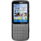 Nokia C3-01 Touch and Type Cellular Phone - Bar - Warm Gray