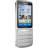 Nokia C3-01 Touch and Type Cellular Phone - Bar - Silver