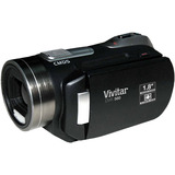 "Vivitar DVR 650 Digital Camcorder - 1.8"" LCD - CMOS - Black - DVR650BLK"