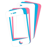 i.Sound DGIPOD-1578 Skin for Smartphone - White, Blue, Pink