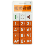 J509ORANGE - Just5 J509 Cellular Phone - 2G - Bar - Orange