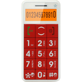 Just5 J509 Cellular Phone - Bar - Red