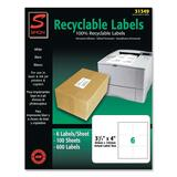 Simon 31349 Shipping Label - 3.33 Width x 4 Length - 600 / Box