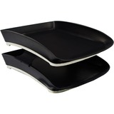 Storex Two-Tier Letter Tray