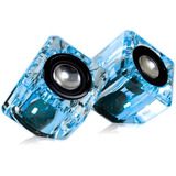 i.Sound DGUN-2526 2.0 Speaker System - Transparent Blue - DGUN2526