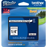 Brother TZE211 Label Tape - 0.25' Width - 1 Each
