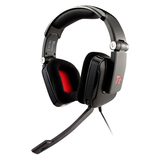 Tt eSPORTS SHOCK Headset - Surround - Black - Mini-phone