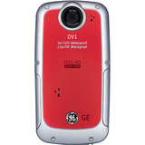 GE DV1 Digital Camcorder - 2.5' LCD - CMOS - Velvet Red