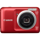 Canon PowerShot A800 10 Megapixel Compact Camera - 6.60 mm-21.60 mm - Red