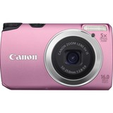 Canon PowerShot A3300 IS 16 Megapixel Compact Camera - 5 mm-25 mm - Pink