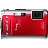 Olympus Tough TG-610 14 Megapixel Compact Camera - 5 mm-25 mm - Red