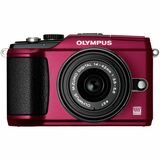 Olympus PEN E-PL2 12.3 Megapixel Mirrorless Camera (Body with Lens Kit) - 14 mm - 42 mm - Red 262916