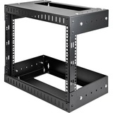 StarTech.com 8U Open Frame Wall Mount Equipment Rack - Adjustable Depth RK812WALLOA