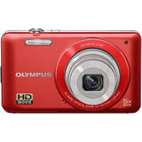 Olympus VG-120 14 Megapixel Compact Camera - 4.70 mm-23.50 mm - Red