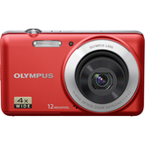 Olympus VG-110 12 Megapixel Compact Camera - 4.80 mm-19.20 mm - Red