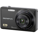 Olympus VG-110 12 Megapixel Compact Camera - 4.80 mm-19.20 mm - Black