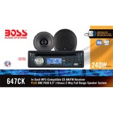 Boss 647CK Car CD/MP3 Player - 240 W - Single DIN - 647CK