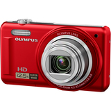 Olympus VR-320 14 Megapixel Compact Camera - 4.20 mm-52.50 mm - Red