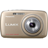 Panasonic Lumix DMC-S1 12.1 Megapixel Compact Camera - 5 mm-20 mm - Gold