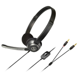 Audio-Technica ATH-330COM Headset - Stereo - Mini-phone