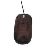 Impecca Bamboo WMB102 Mouse - Wired - Espresso