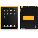 Macally DUALSTAND2 Skin for iPad - Yellow, Black