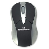 MANHATTAN 177139 MLX Mouse - Laser - Wireless - Radio Frequency - Black, Silver
