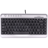 KL-5 Keyboard by Ergoguys- Wired - Silver - USB, PS/2 - PC