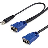 StarTech.com 15 ft 2-in-1 Ultra Thin USB KVM Cable